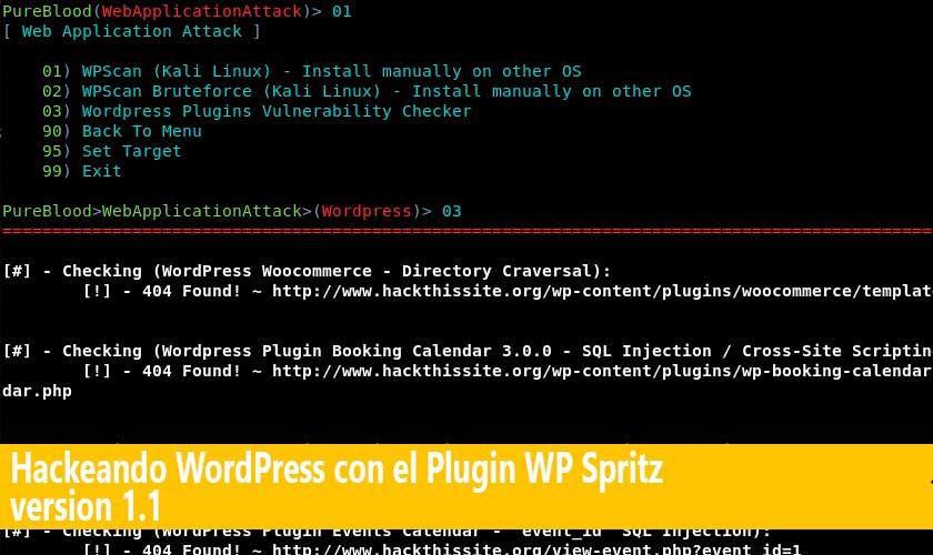Hackeando WordPress con el Plugin WP Spritz version 1.1