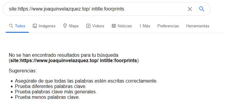 foorprint SEO intitle