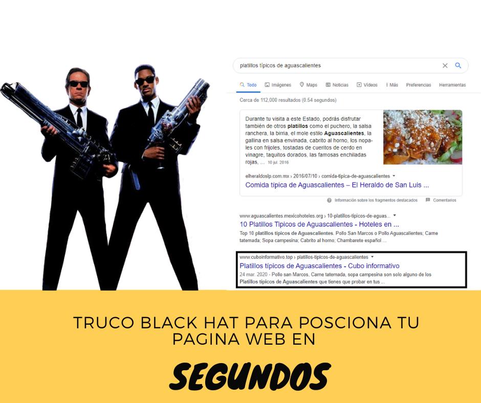 tecnica black hat para posicionamiento web