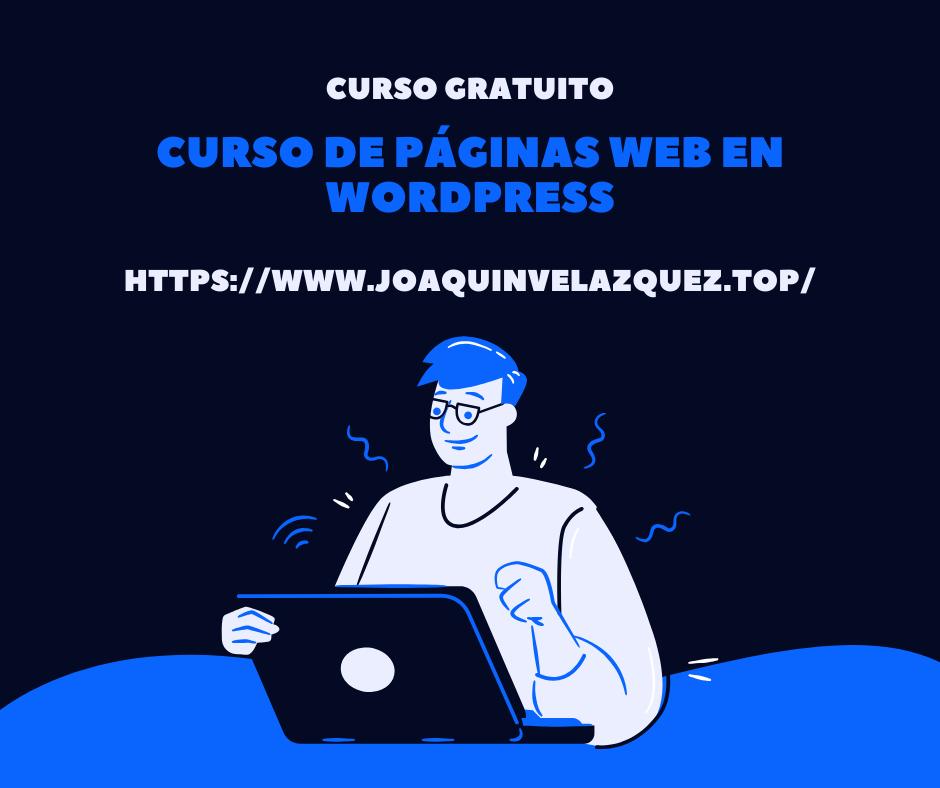 curso de páginas web en wordpress