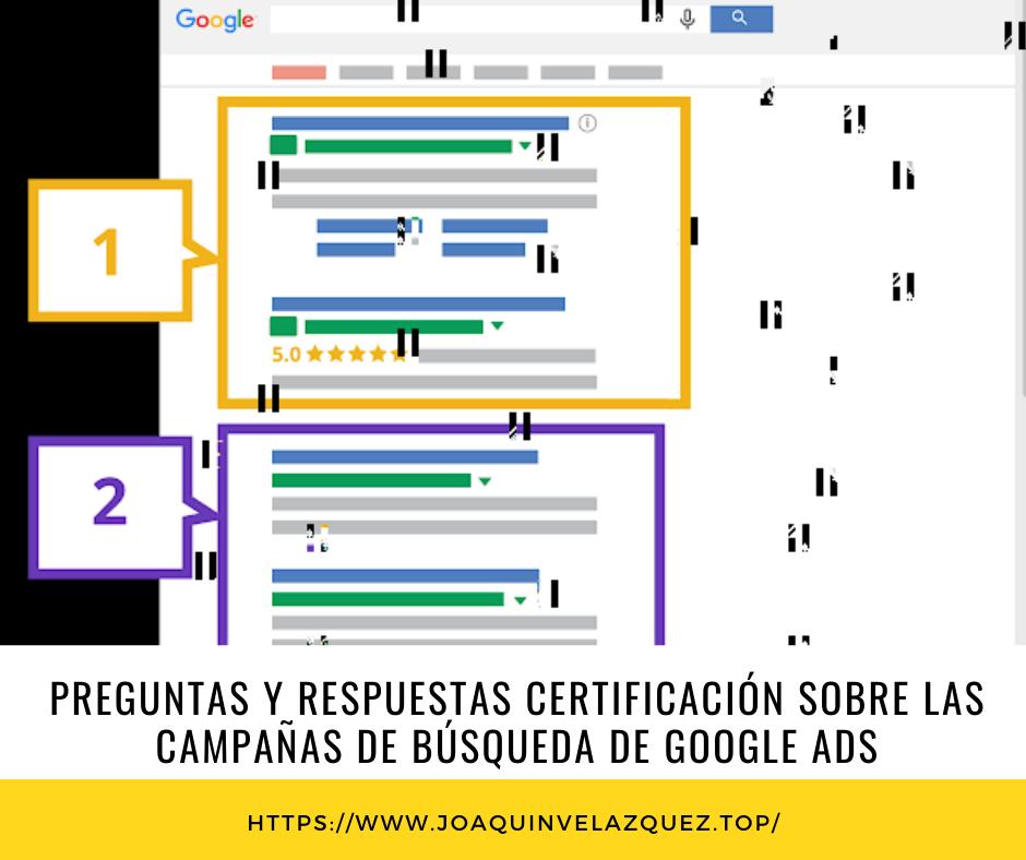 examen certificado de busqueda de google ADS