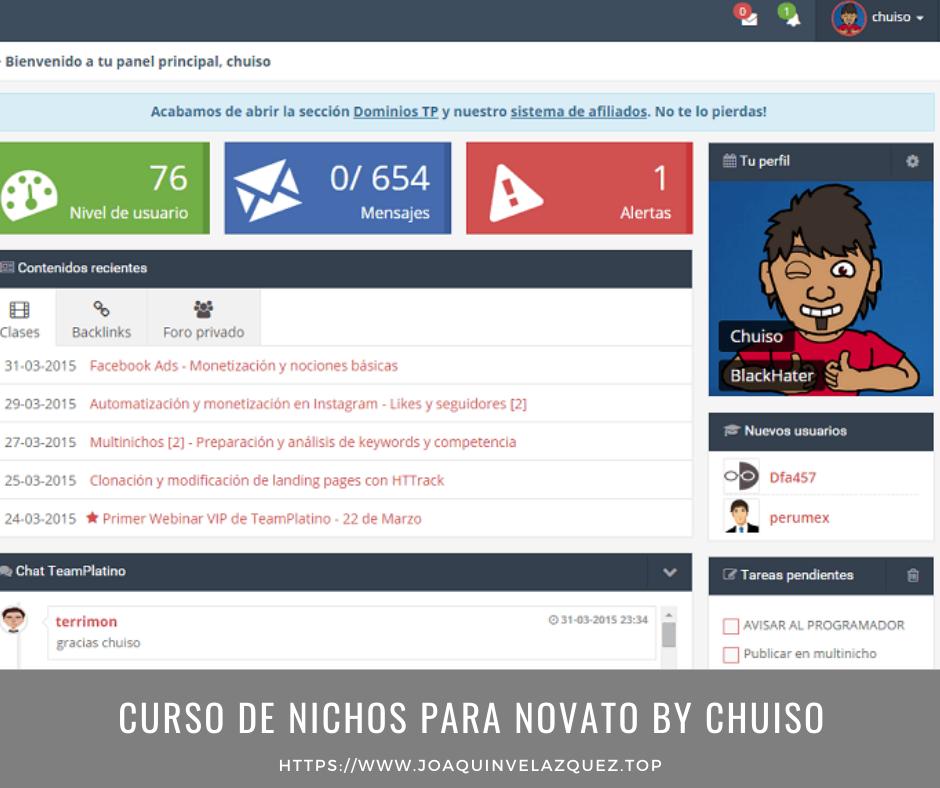 Curso de nichos para novato By Chuiso