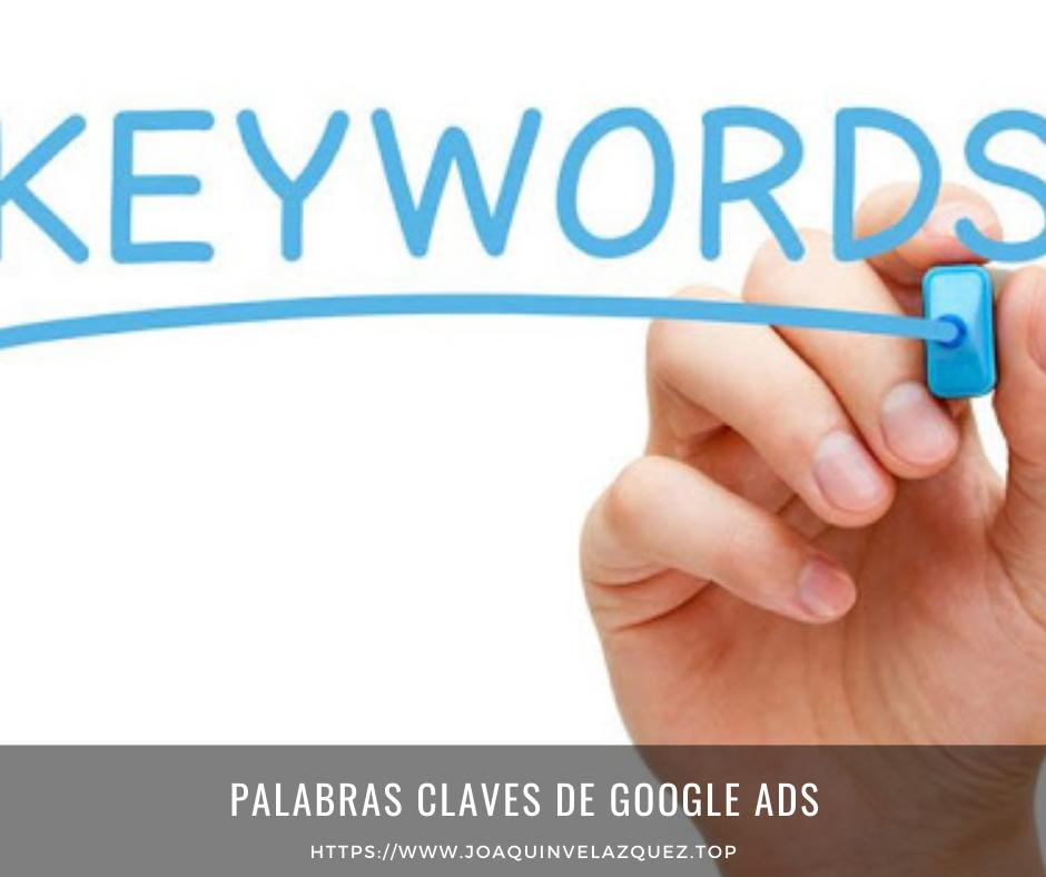 Palabras claves de Google ADS